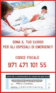 Emergency 5x1000, clicca qui per altre info