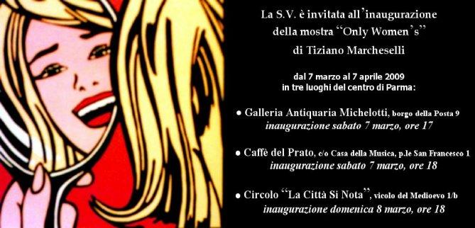 Triplice MOSTRA sulla DONNA di Tiziano Marcheselli