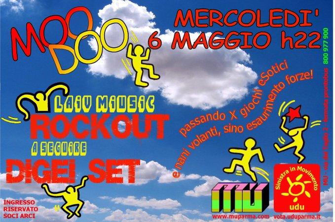 Mercoledì 6 maggio concerto dei RockOut al Mu di Parma