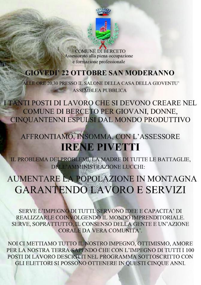 Irene Pivetti a Berceto
