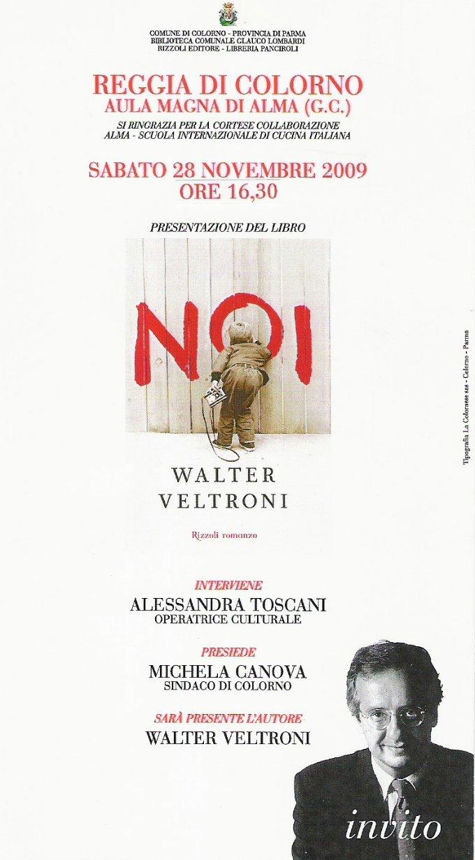 Veltroni presenta il suo libro NOI a Colorno