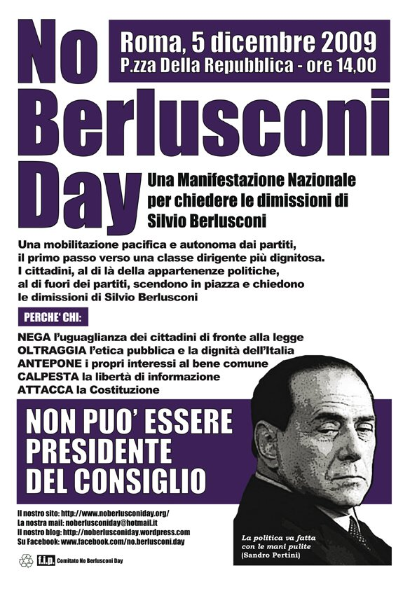 NO BELUSCONI DAY