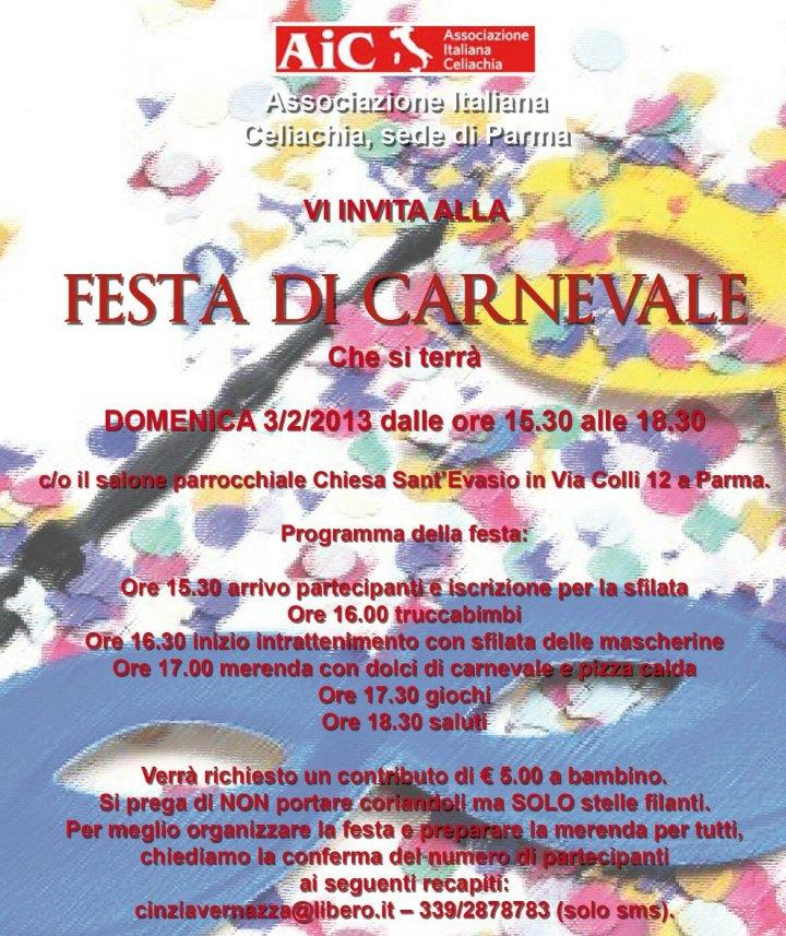 AIC, FESTA DI CARNEVALE