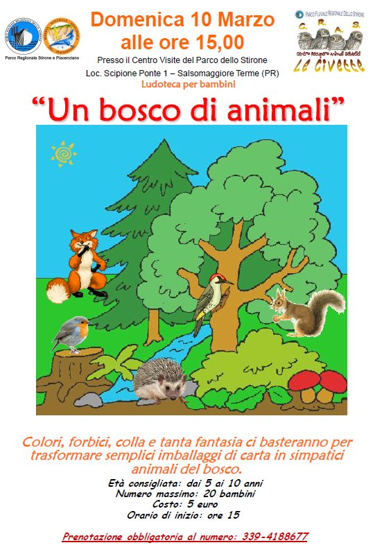 Un bosco di animali