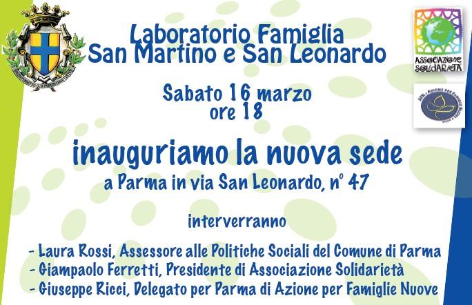 Laboratorio Famiglia San Martino e San Leonardo inaugura la nuova sede