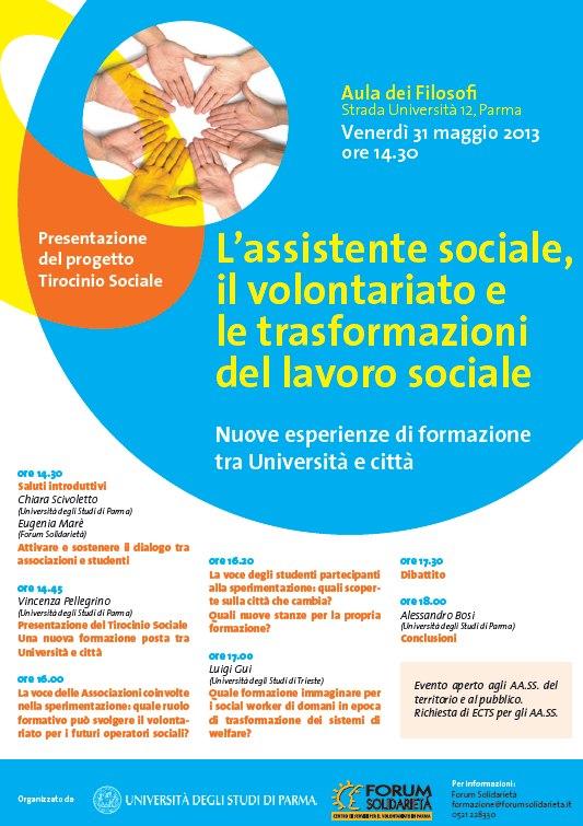 L'assistente sociale, il volontariato e le trasformazioni del lavoro sociale