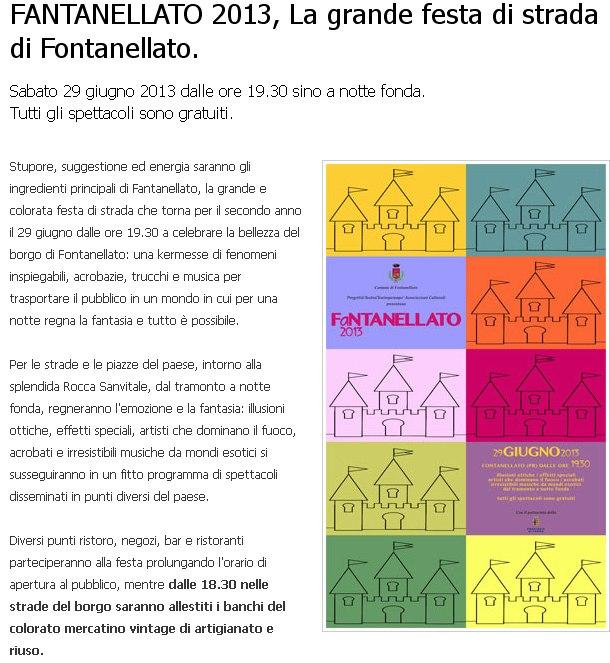 Questo sabato vieni a Fantanellato, la grande festa di strada.