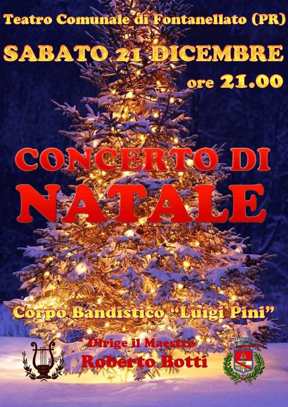 Sabato 21 sei invitato al concerto di Natale della banda Luigi Pini di Fontanellato