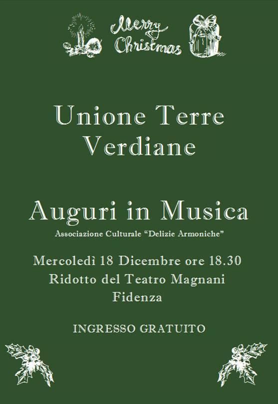 Auguri in Musica dall'Unione Terre Verdiane (PR)