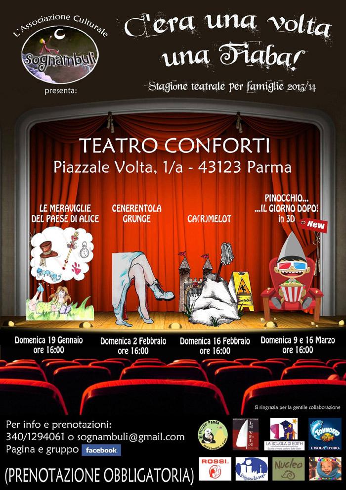 Sognambuli, vi aspettiamo come sempre numerosi al Teatro Conforti, Piazzale Volta PR (all'interno della parrocchia del Sacro Cuore)