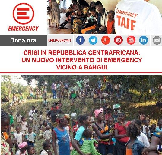 Crisi in Repubblica Centrafricana: un nuovo intervento di Emergency vicino a Bangui