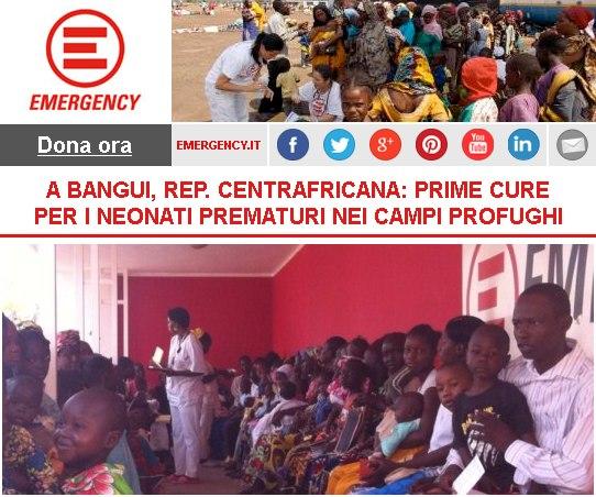 Prime cure per i neonati prematuri nei campi profughi a Bangui, Repubblica Centrafricana