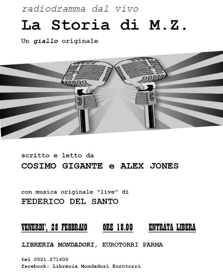 """Radiodramma dal vivo: """"La Storia di M.Z."""" con Gigante e Jones"""