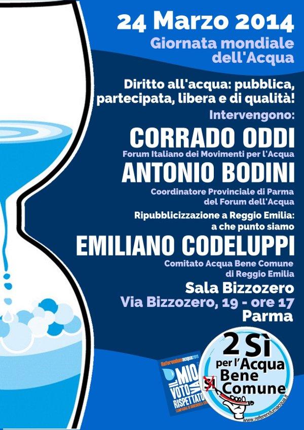 Giornata mondiale dell'Acqua lunedì 24 marzo a Parma