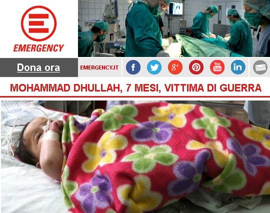 Mohammad Dhullah, 7 mesi, vittima di guerra