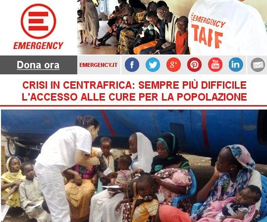 CRISI IN CENTRAFRICA: SEMPRE PIÙ DIFFICILE L'ACCESSO ALLE CURE PER LA POPOLAZIONE