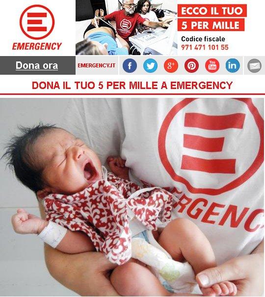 DONA IL TUO 5 PER MILLE A EMERGENCY