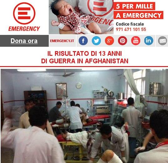 EMERGENCY, IL RISULTATO DI 13 ANNI DI GUERRA IN AFGHANISTAN