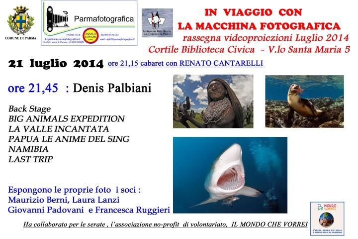 Serata con Denis Palbiani
