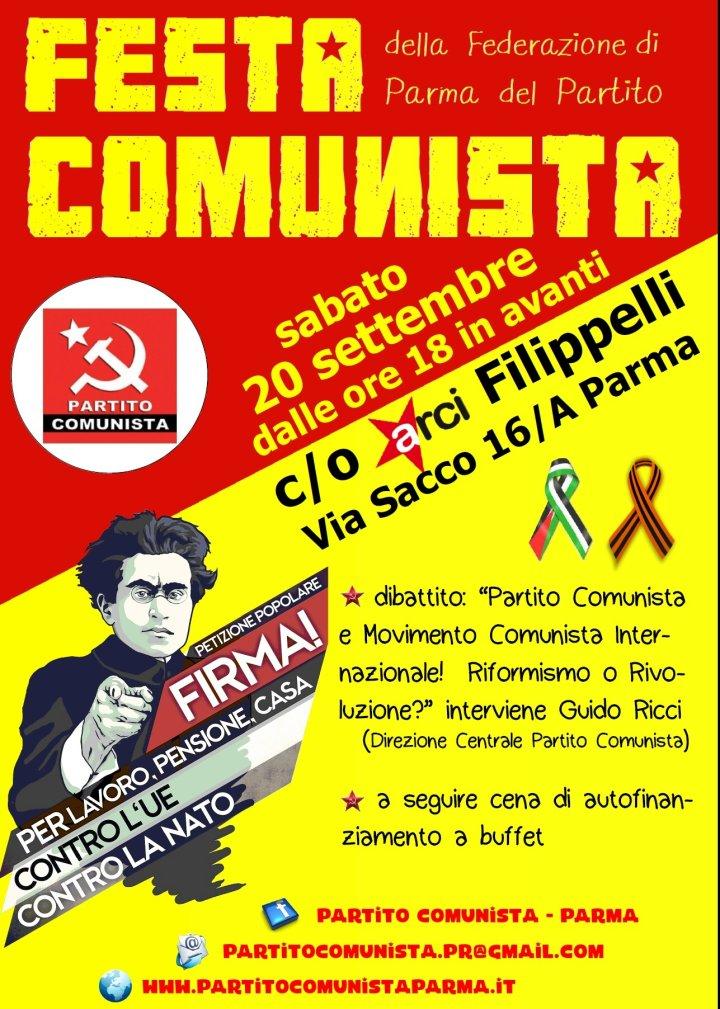 FESTA COMUNISTA a Parma 20.9.2014