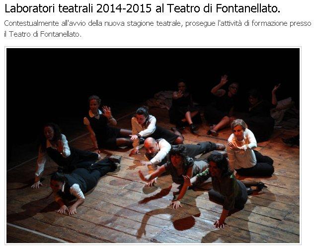 TEATRO COMUNALE DI FONTANELLATO Stagione 2014 - 2015