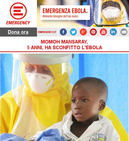 Emergency MOMOH MANSARAY, 5 ANNI, HA SCONFITTO L'EBOLA