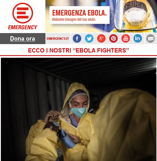 "Emergency, ECCO I NOSTRI ""EBOLA FIGHTERS"""