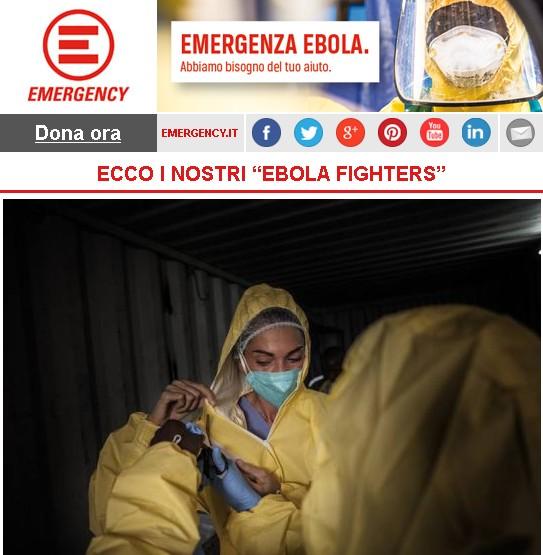 "Emergency, ECCO I NOSTRI ""EBOLA FIGHTERS"""