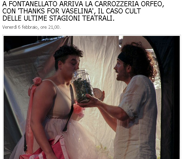 Carrozzeria Orfeo con 'Thanks for Vaselina': da non perdere!