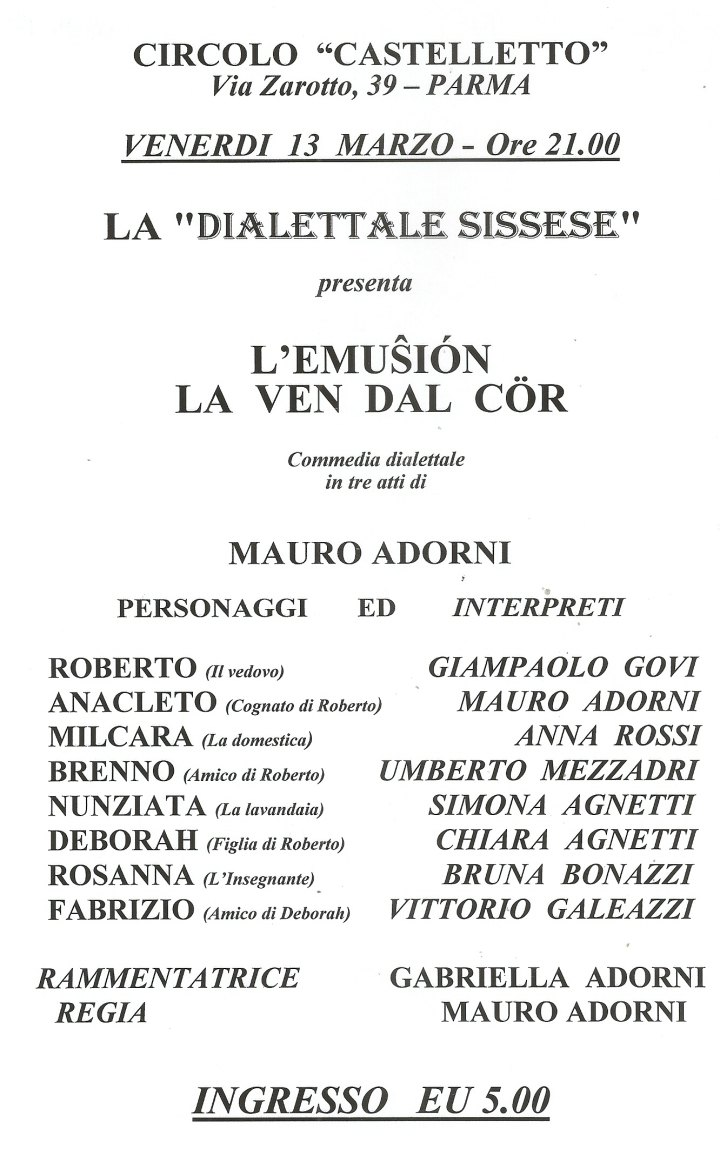LOCANDINA SISSESE CASTELLETTO