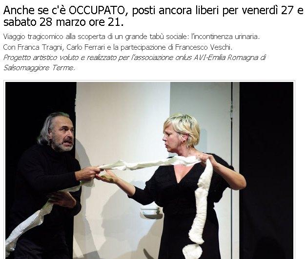 Teatro di Fontanellato, anche se c'è OCCUPATO, posti ancora liberi