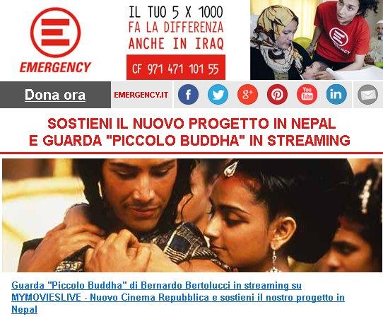 """Sostieni il nuovo progetto in Nepal e guarda """"Piccolo Buddha"""" in streaming"""