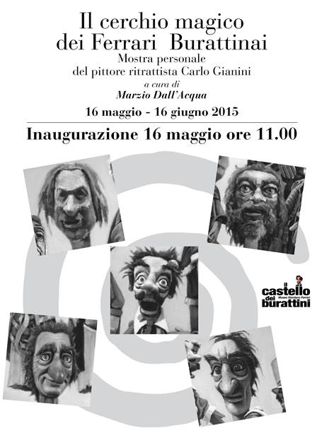 Inaugurazione mostra pittorica del pittore Carlo Gianini - Museo Giordano Ferrari - il castello dei burattini via Melloni Parma