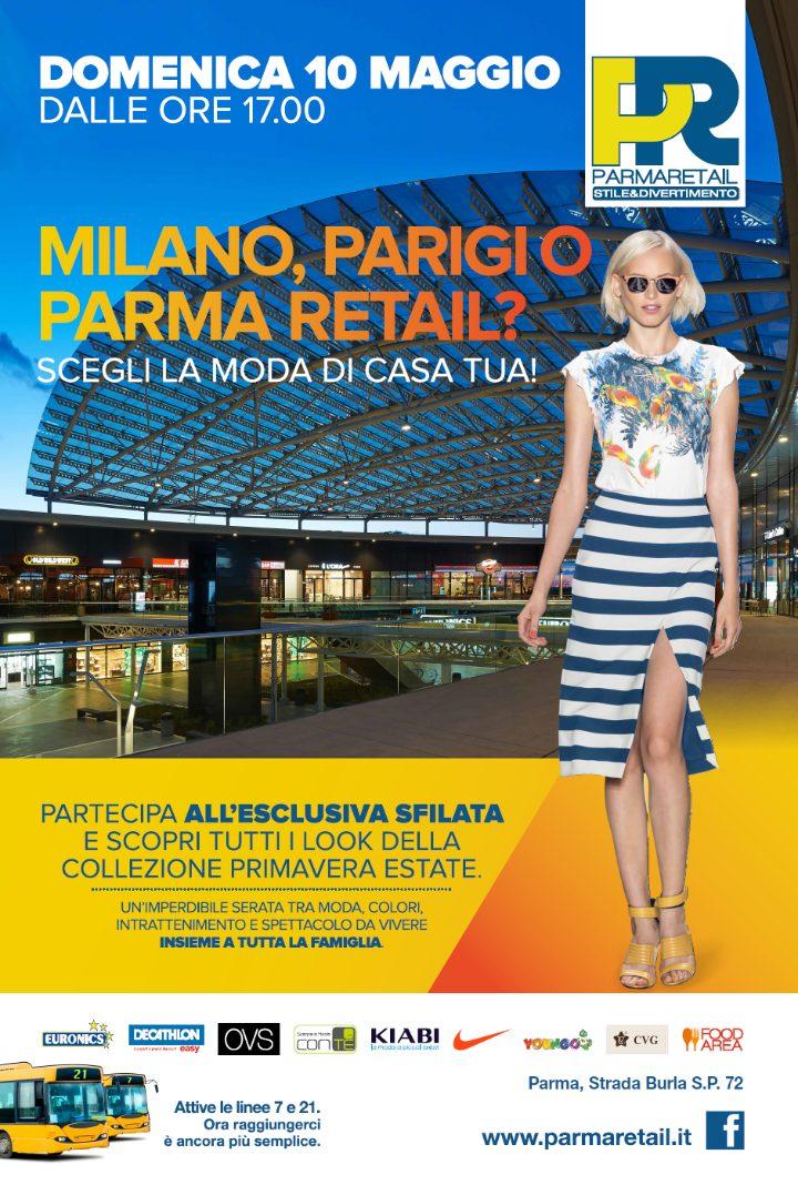 Domenica 10 maggio appuntamento a Parma Retail per tutti gli amanti del fashion