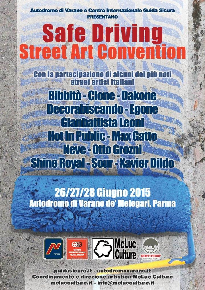 Autodromo di Varano: Comunicato Stampa per Safe Driving Street Art Convention