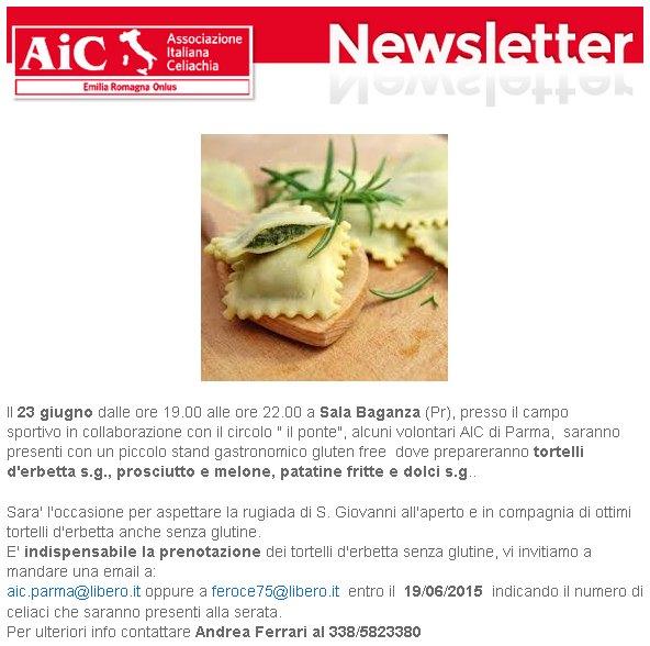 AIC Parma, tortellata di San Giovanni sotto le stelle