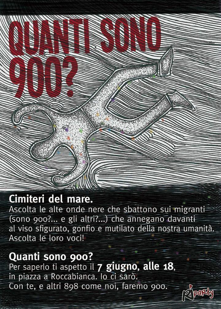 Quanti sono 900?   A Roccabianca, il 7 giugno un flash mob per ricordare le vittime del Canale di Sicilia