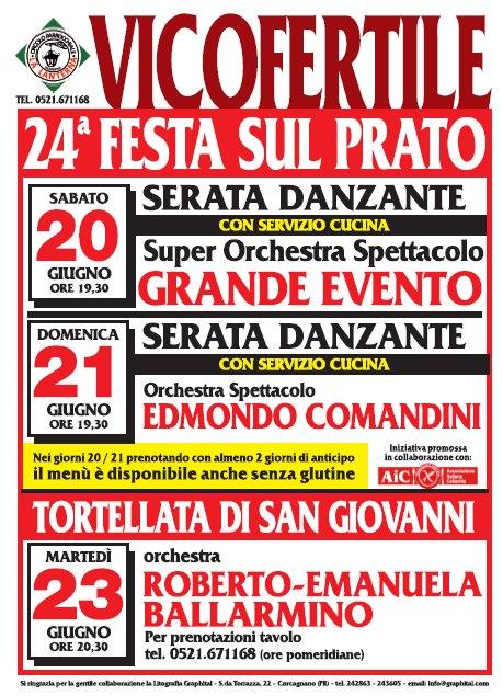 Festa sul prato - Vicofertile - 20 e 21 giugno AIC Parma