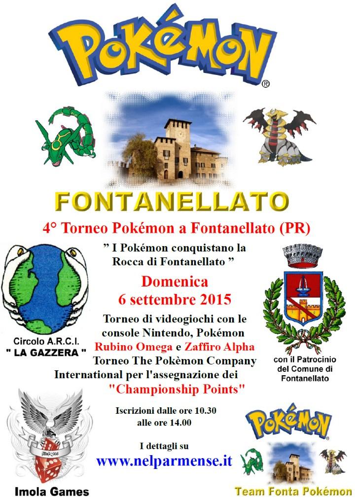 I Pokémon conquistano la Rocca Castello di Fontanellato 4° Torneo dei Pokémon 6 settembre 2015