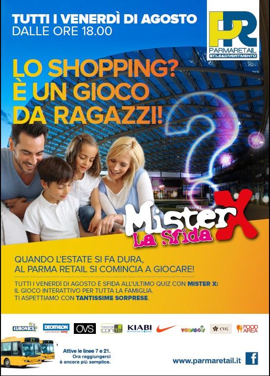 Mister X ogni venerdì di agosto a Parma Retail