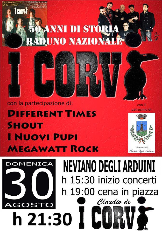 """Concerto """"50 di storia della band I CORVI"""""""
