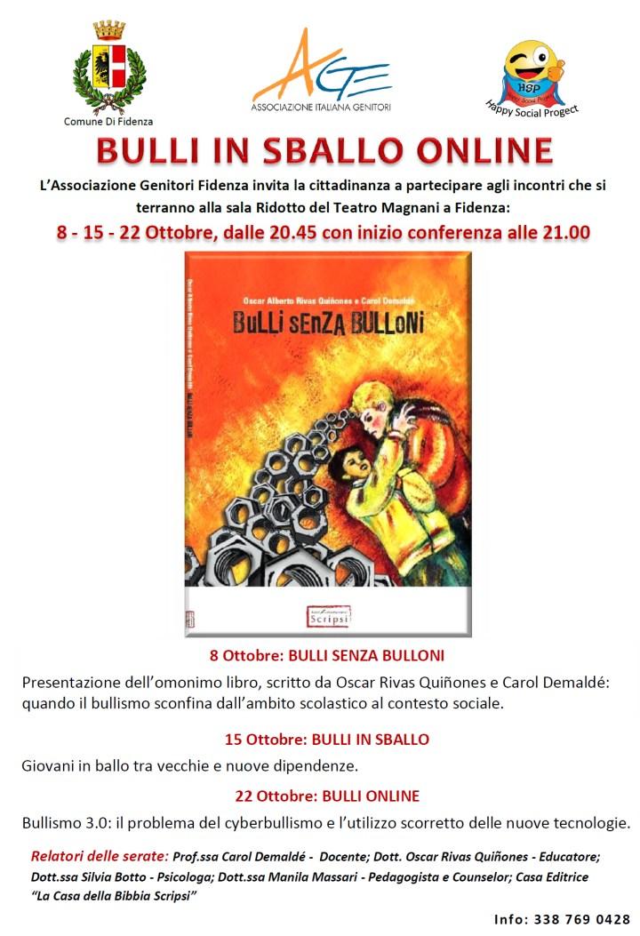 """Convegno """"bulli in sballo online"""""""