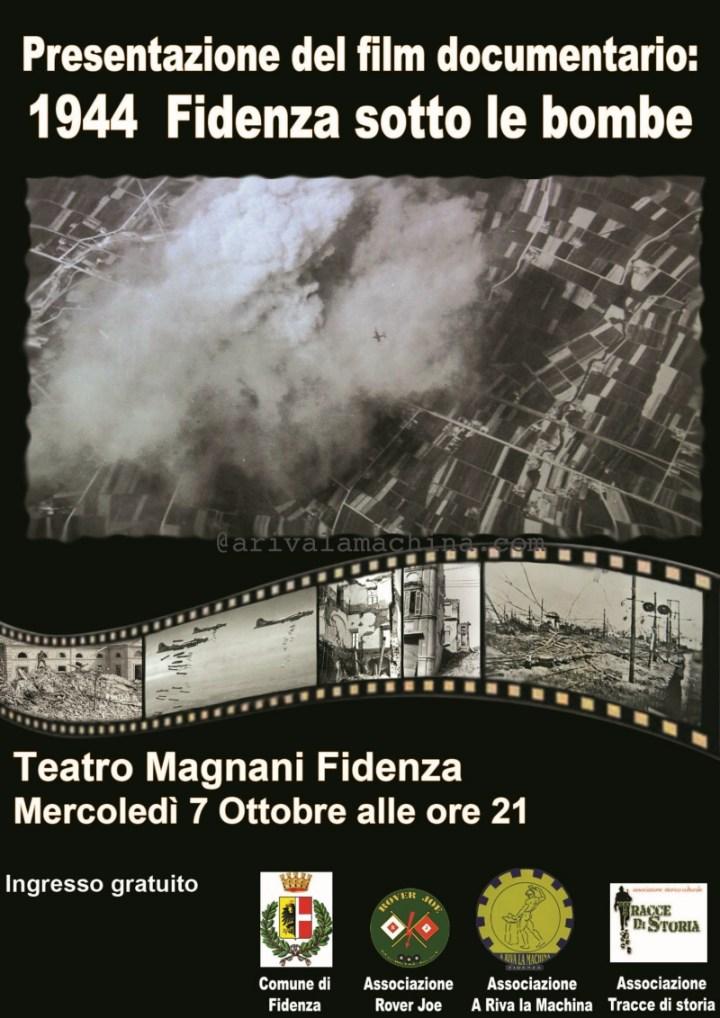 """Al Teatro Magnani di Fidenza, sarà proiettato il film-documentario : """"1944 Fidenza sotto le bombe"""""""