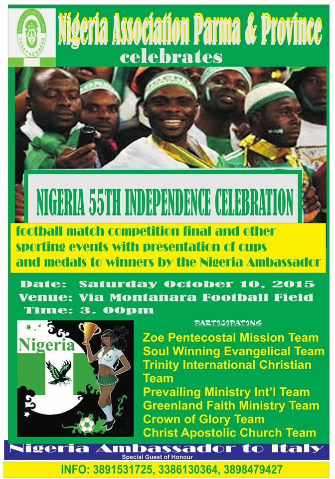 I nigeriani festeggiano l'indipendenza
