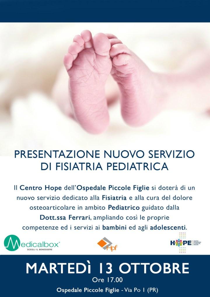 Ospedale Piccole Figlie - nuovo servizio fisiatria pediatrica