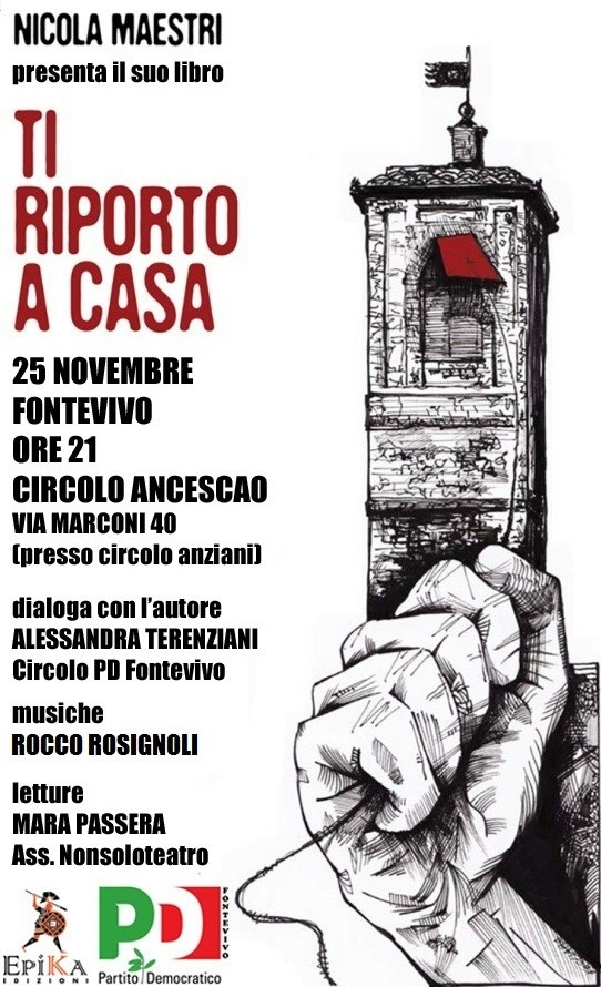"""La presentazione del libro di Nicola Maestri, """"Ti riporto a casa"""""""