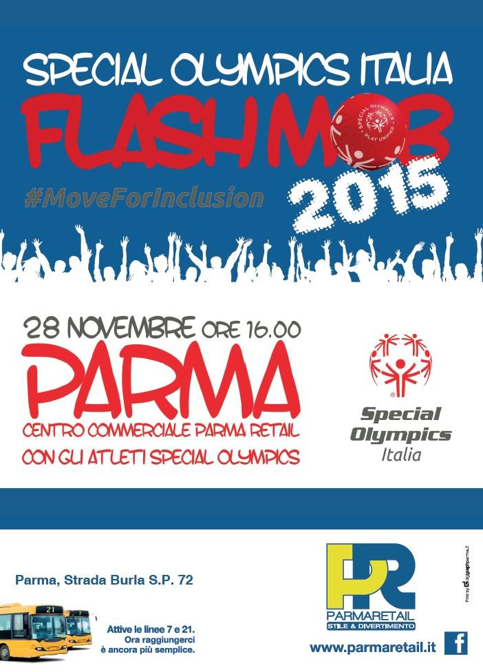 Parma Retail - Il flashmob di Special Olympics Italia - sabato 28 novembre si balla insieme per la piena integrazione