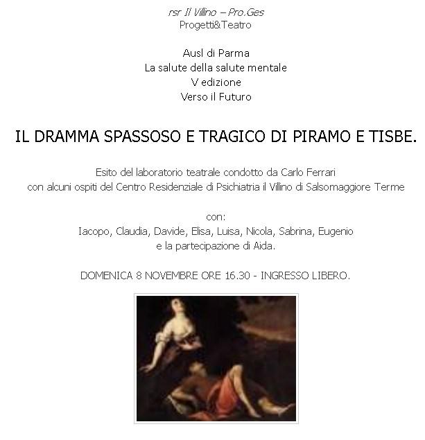 """Teatro di Fontanellato """" Il dramma spassoso e tragico di Piramo e Tisbe """""""