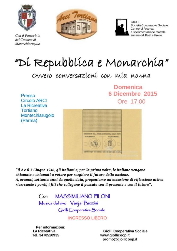 Di Repubblica e Monarchia Tortiano (PR) 6.12.2015