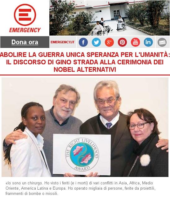Gino Strada: abolire la guerra unica speranza per l'umanità